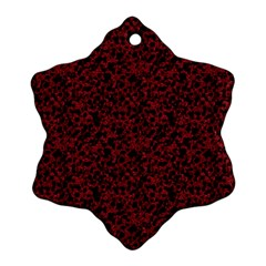 Red Coral Pattern Snowflake Ornament (two Sides)