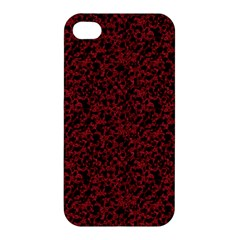 Red Coral Pattern Apple Iphone 4/4s Hardshell Case by Valentinaart