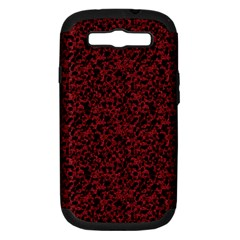 Red Coral Pattern Samsung Galaxy S Iii Hardshell Case (pc+silicone) by Valentinaart