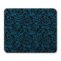 Blue Coral Pattern Large Mousepads by Valentinaart
