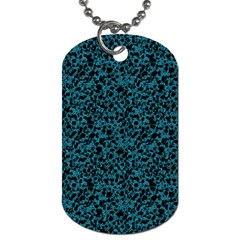 Blue Coral Pattern Dog Tag (two Sides) by Valentinaart