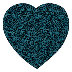 Blue Coral Pattern Jigsaw Puzzle (heart) by Valentinaart