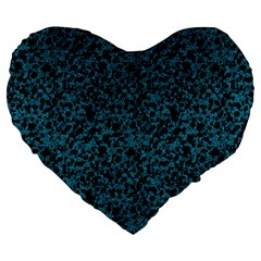 Blue Coral Pattern Large 19  Premium Heart Shape Cushions by Valentinaart