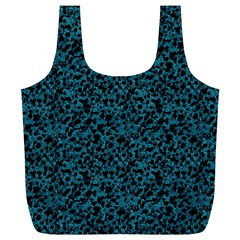 Blue Coral Pattern Full Print Recycle Bags (l)  by Valentinaart