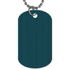 Blue Texture Dog Tag (one Side) by Valentinaart