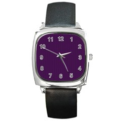Purple Texture Square Metal Watch by Valentinaart