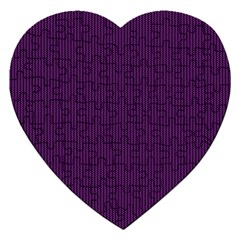 Purple Texture Jigsaw Puzzle (heart)