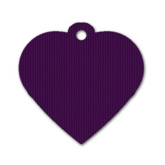 Purple Texture Dog Tag Heart (one Side)