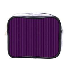 Purple Texture Mini Toiletries Bags by Valentinaart