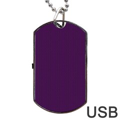 Purple Texture Dog Tag Usb Flash (one Side)