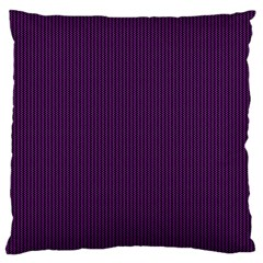 Purple Texture Large Cushion Case (two Sides) by Valentinaart