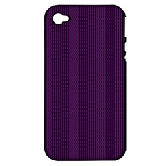Purple Texture Apple Iphone 4/4s Hardshell Case (pc+silicone)