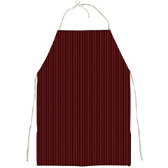 Red Texture Full Print Aprons