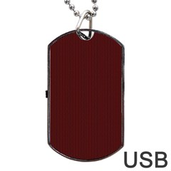 Red Texture Dog Tag Usb Flash (one Side) by Valentinaart