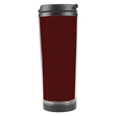 Red Texture Travel Tumbler by Valentinaart