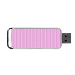 Pink Texture Portable Usb Flash (one Side)