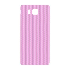 Pink Texture Samsung Galaxy Alpha Hardshell Back Case by Valentinaart