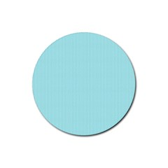 Light Blue Texture Rubber Round Coaster (4 Pack)  by Valentinaart