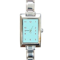 Light Blue Texture Rectangle Italian Charm Watch by Valentinaart