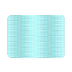 Light Blue Texture Double Sided Flano Blanket (mini)  by Valentinaart