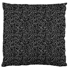 Black Elegant Texture Large Cushion Case (one Side) by Valentinaart