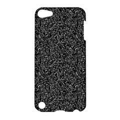 Black Elegant Texture Apple Ipod Touch 5 Hardshell Case by Valentinaart