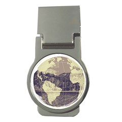 River Globe Money Clips (round)