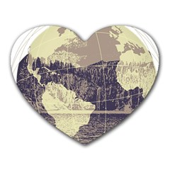 River Globe Heart Mousepads by MTNDesignco