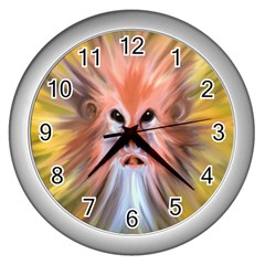 Monster Ghost Horror Face Wall Clocks (silver)  by Nexatart