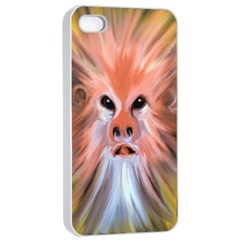 Monster Ghost Horror Face Apple Iphone 4/4s Seamless Case (white) by Nexatart