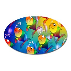 Fish Pattern Oval Magnet