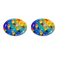 Fish Pattern Cufflinks (oval) by Nexatart