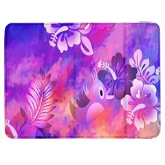 Abstract Flowers Bird Artwork Samsung Galaxy Tab 7  P1000 Flip Case by Nexatart