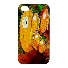 Abstract Fish Artwork Digital Art Apple Iphone 4/4s Premium Hardshell Case by Nexatart