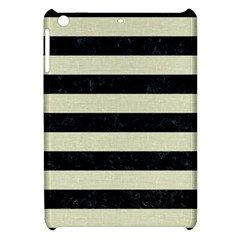 Stripes2 Black Marble & Beige Linen Apple Ipad Mini Hardshell Case