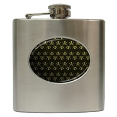 Abstract Skulls Death Pattern Hip Flask (6 Oz) by Nexatart