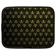 Abstract Skulls Death Pattern Netbook Case (xl)  by Nexatart