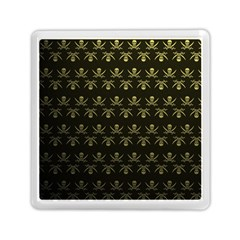 Abstract Skulls Death Pattern Memory Card Reader (square)  by Nexatart