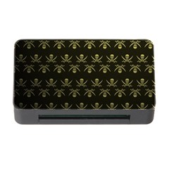 Abstract Skulls Death Pattern Memory Card Reader With Cf