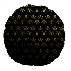 Abstract Skulls Death Pattern Large 18  Premium Round Cushions