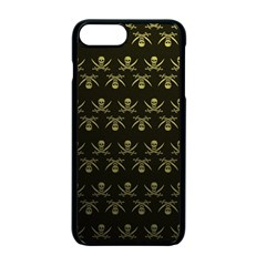 Abstract Skulls Death Pattern Apple Iphone 7 Plus Seamless Case (black) by Nexatart