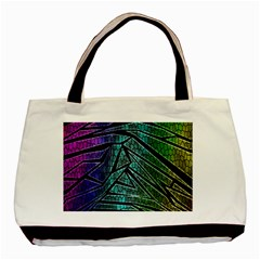Abstract Background Rainbow Metal Basic Tote Bag (two Sides)