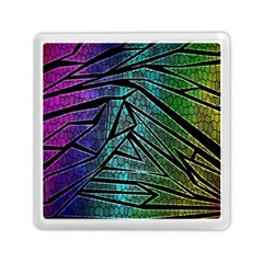 Abstract Background Rainbow Metal Memory Card Reader (square)