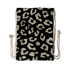Skin5 Black Marble & Beige Linen (r) Drawstring Bag (small) by trendistuff