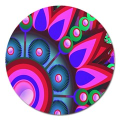 Abstract Digital Art  Magnet 5  (round) by Nexatart
