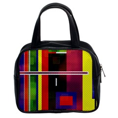 Abstract Art Geometric Background Classic Handbags (2 Sides)