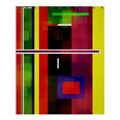 Abstract Art Geometric Background Shower Curtain 60  X 72  (medium)
