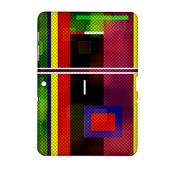 Abstract Art Geometric Background Samsung Galaxy Tab 2 (10 1 ) P5100 Hardshell Case  by Nexatart