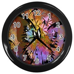 Abstract Digital Art Wall Clocks (black)