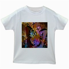 Abstract Digital Art Kids White T Shirts